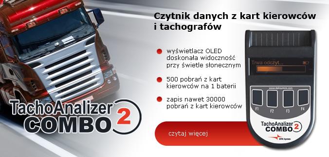 Nowy czytnik kart kierowców i tachografów cyfrowych Tachoanalizer COMBO2